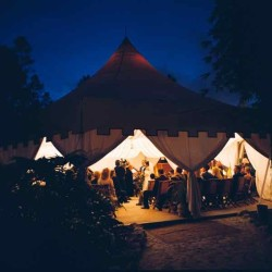Wedding in Hex Tent