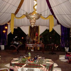 Inside an Ngala Luxury Event Tent